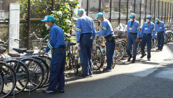自転車整理業務イメージ